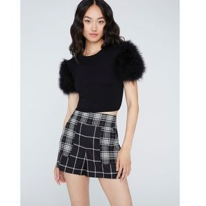 Ciara feather cropped sweater XS